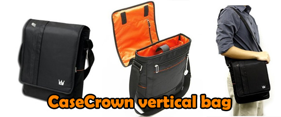 CaseCrown vertical messenger bag