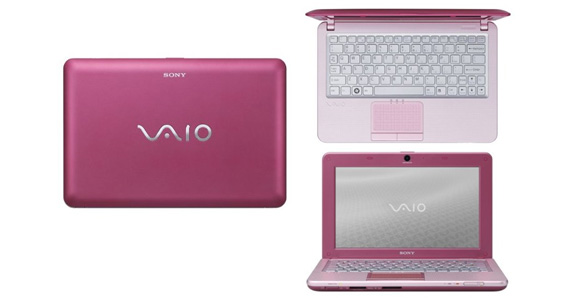 Sony Vaio W available in vivid pink