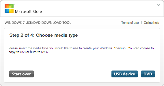 Choose USB device