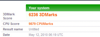 3Dmark05 results
