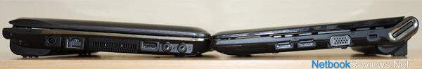 Samsung N210 (left) vs Samsung N230 (right)