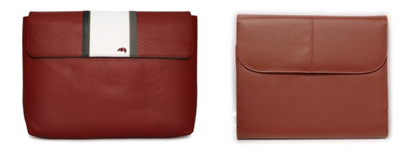 Porporta (left) and Vangoddy (right) leather envelopes for netbooks