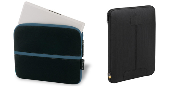 Targus (left) and Case Logic (right) robust sleeves for mini notebooks