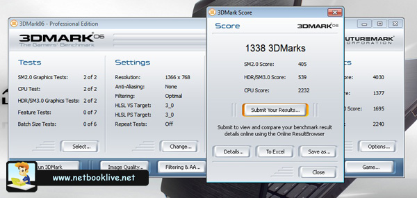 3DMark06 - 1366 x 768px - Nvidia chip