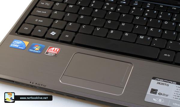 Trackpad and keyboard