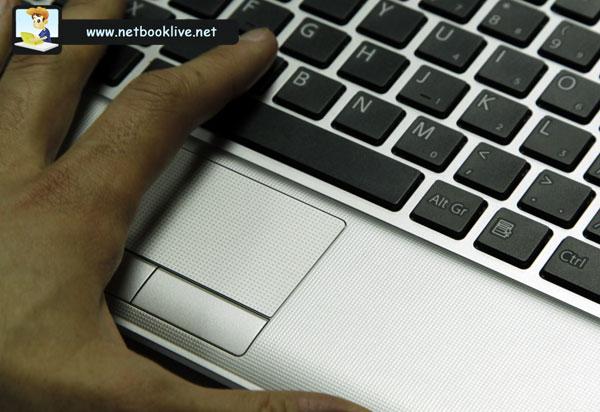 Cramped keyboard and trackpad