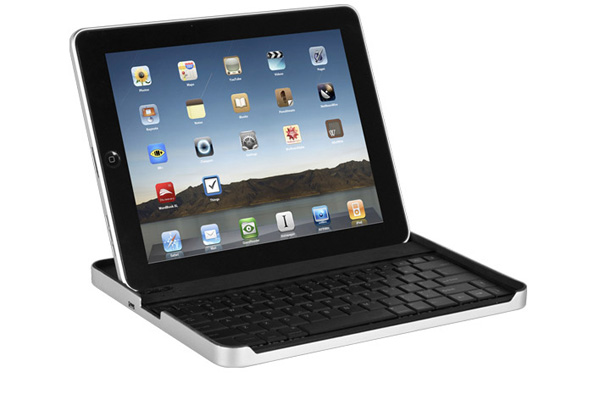 The case has an opening in front, so you can easily access the keyboard