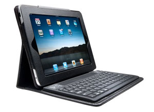 Kensington iPad cover with integrated keyboard