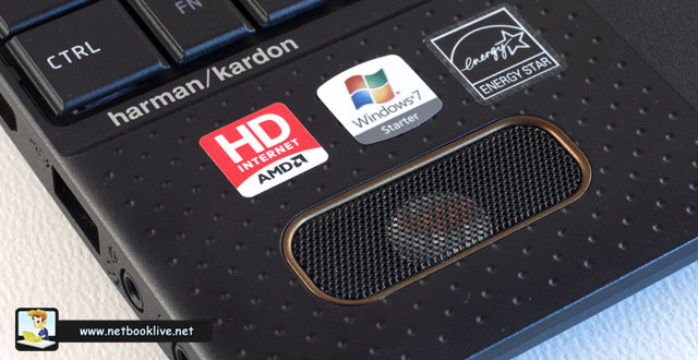 Speakers are the best you can find on a netbook