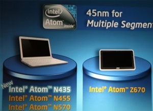 Intel Atom N435 - cheapest, slowest and most energy efficient ATOM CPU right now