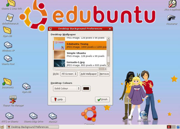 Edubuntu interface