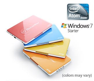 The Aspire happy line of colord netbooks