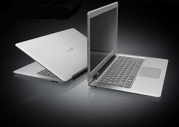 The Acer S3 costs around 1000 bucks and runs on a Core i5 processor