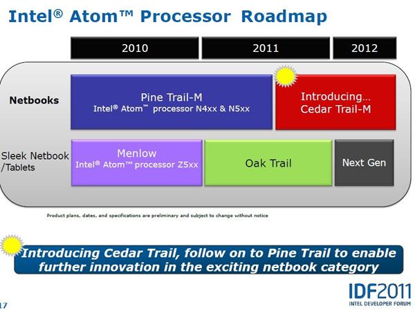Intel's Cedar Trail platform will bring improved HD decoding on netbooks