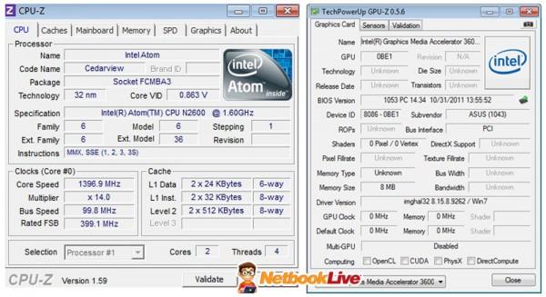 CPU-Z and GPU-Z info