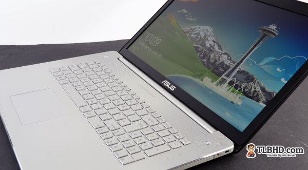The Asus N750 is sleeker than its predecessor, the N76