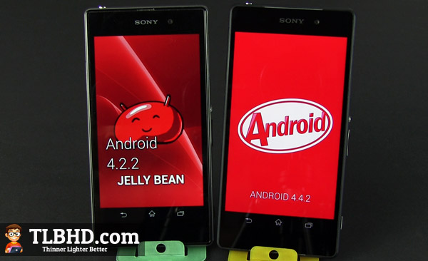 There's Android 4.4 KitKat on the Xperia Z2, and it's both faster and more appealing than JellyBean