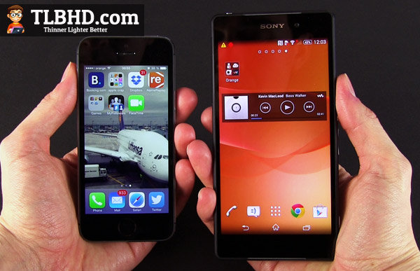 The Apple iPhone 5s and the Sony Xperia Z2 - Different phones for different users