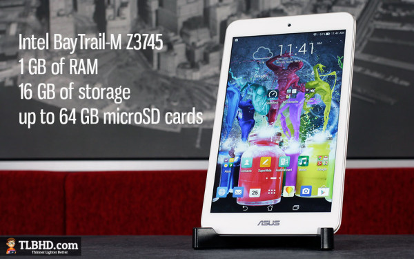 There's powerful hardware and Android 4.4 KitKat on this device