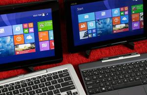 The Acer Transformer Book famility: T200 (left) and T100 (right)