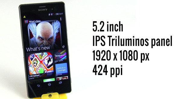 An IPS Triluminos panel on the Xperia Z3