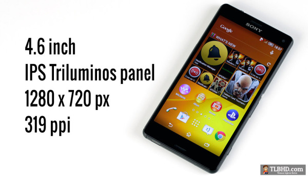 There's a good screen on the Z3 Compact, but with only 720p resolution