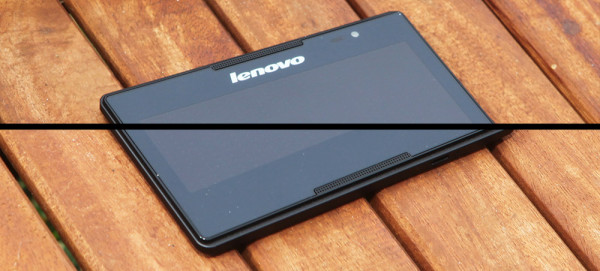 There are front facing speakers on this Lenovo Tab
