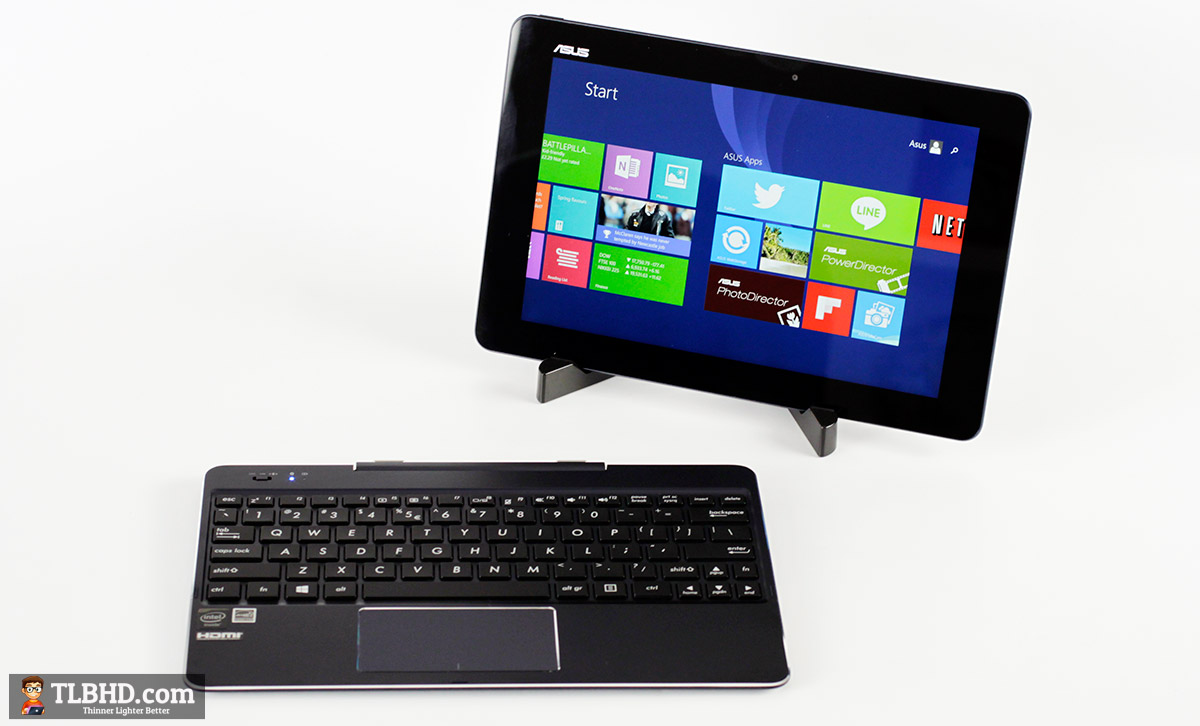 The Transformer Book Chi T100 is a detachable - a 10 inch Windows slate with a keyboard dock